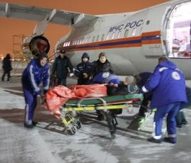 В Петербург самолетом МЧС на лечение доставили двух женщин