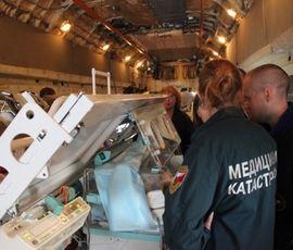 Спецборт МЧС доставил в Петербург маленьких пациентов из Ростова