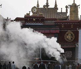 В Тибете горит объект ЮНЕСКО