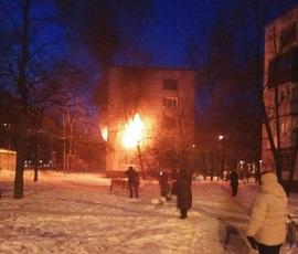 Возгорание на Бухарестской произошло из-за взрыва газового баллона