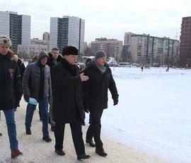 Полтавченко проверил ход работ по благоустройству Приморского района