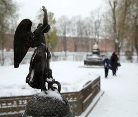 В Северную столицу придет слабый снег и гололедица