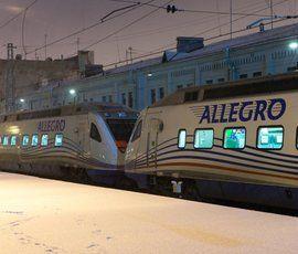 """В Финляндии сломался поезд """"Аллегро"""""""