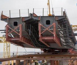 Путин осмотрит строящийся мост в Крым