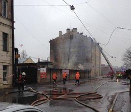 Пожар на Балтийской улице потушили