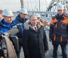 Владимир Путин посетит открытие Крымского моста в мае