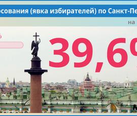 Явка на выборы в Петербурге составила 39,6%