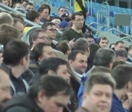 """Манчини тренировал футболистов """"Зенита"""" на глазах у болельщиков"""