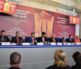 Коммунисты всего мира съехались в Петербург на 100-летие Октябрьской революции