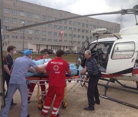 Вертолет дважды вылетал в Ленобласть ради срочной госпитализации пострадавших