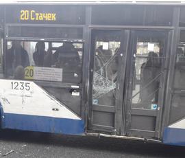 Маршрутка в Петербурге протаранила троллейбус, забитый пассажирами