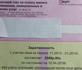 """ВЦКП бросилось вписывать колоссальные долговые пени в """"розовые квитанции"""" петербуржцев"""