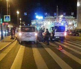 На Лиговке у Московского вокзала сбили пешехода
