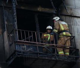 К 04:45 часам утра спасателям удалось потушить ночной пожар в Красногвардейском районе