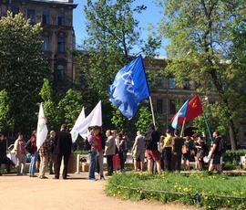 На митинг против пыток вышло около сотни петербуржцев