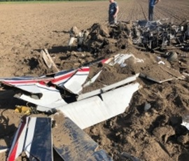 МЧС показало фото разбившегося в Ленобласти Су-29