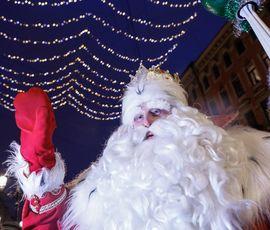 Дед Мороз зачитал новогодний рэп
