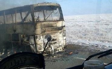 Автобус со сгоревшими гражданами Узбекистана ехал из Казахстана в Россию
