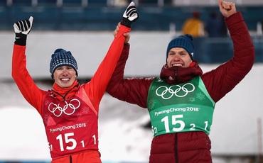 """Олимпийская среда: рекорд Загитовой, """"серебро"""" лыжников и победа хоккеистов"""