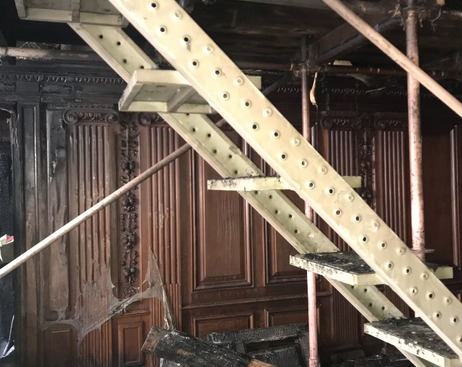 При пожаре в Доме архитектора пострадали панно 19 века