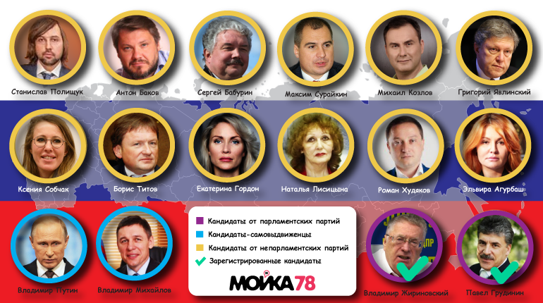 В 12 часов ночи  истекает срок приема документов от претендентов  напост Президента— ЦИК