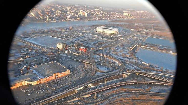 Путин оценил готовность «Ростов арены» с борта вертолета
