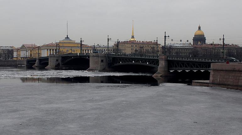 Дворцовый мост покраснеет до 2 марта