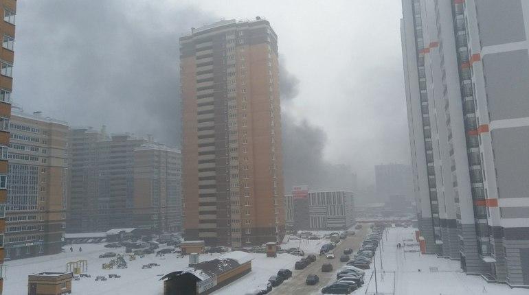 Пожарные потушили полыхающий на севере Петербурга склад