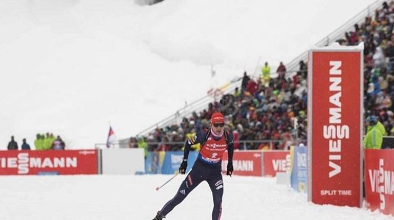 Домрачева выиграла серебро волимпийском масс-старте