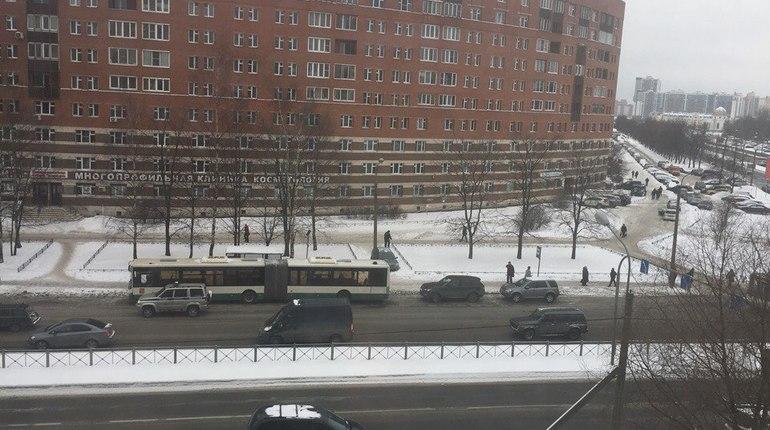 Заходя в городской автобус, петербуржец расшиб голову и умер