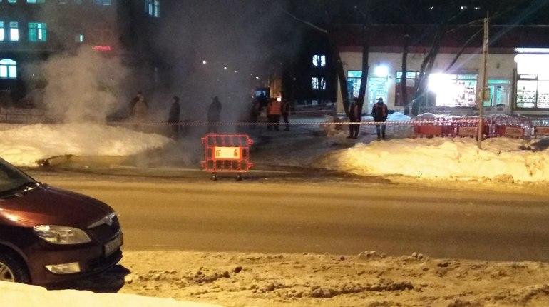 Жильцы домов на проспекте Просвещения замерзают из-за прорыва трубы