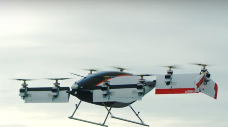 Полет первого в мире летающего такси попал на видео