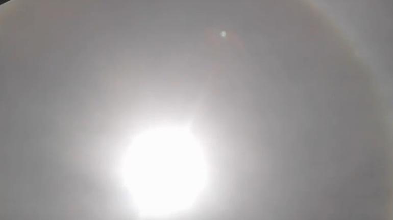 Бразильцев удивило солнце в кольцах