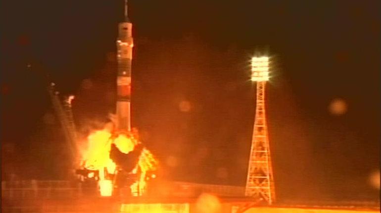 С космодрома Байконур стартовала ракета «Союз-ФГ» с пилотируемым кораблем «Союз МС-08». Запуск прошел успешно. Пилотируемый корабль направляется к Международной космической станции.