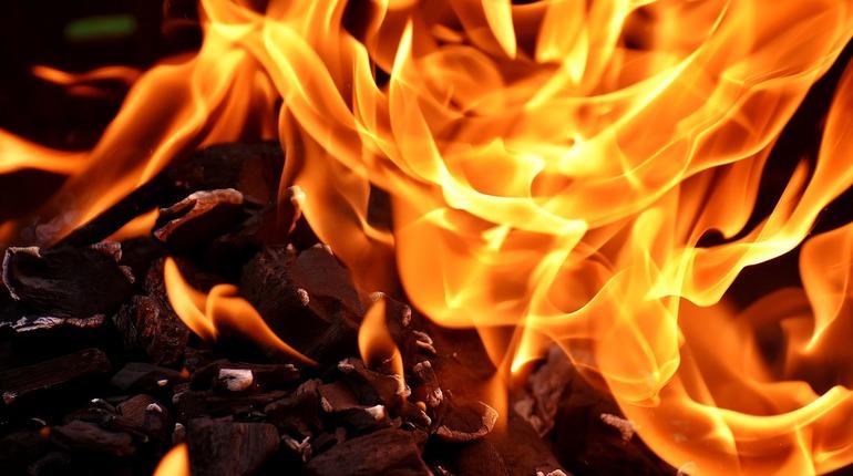 ВПетербурге ночью тушили пожар натерритории рынка «Лигово»