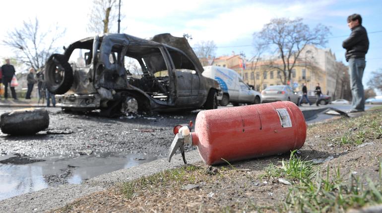 В Московском районе потушили Citroen