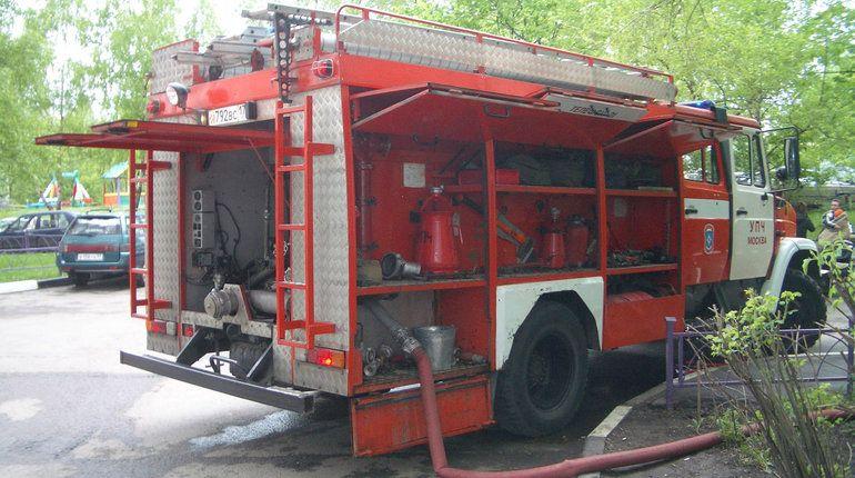 Горящую в Петергофе школу тушили 36 пожарных