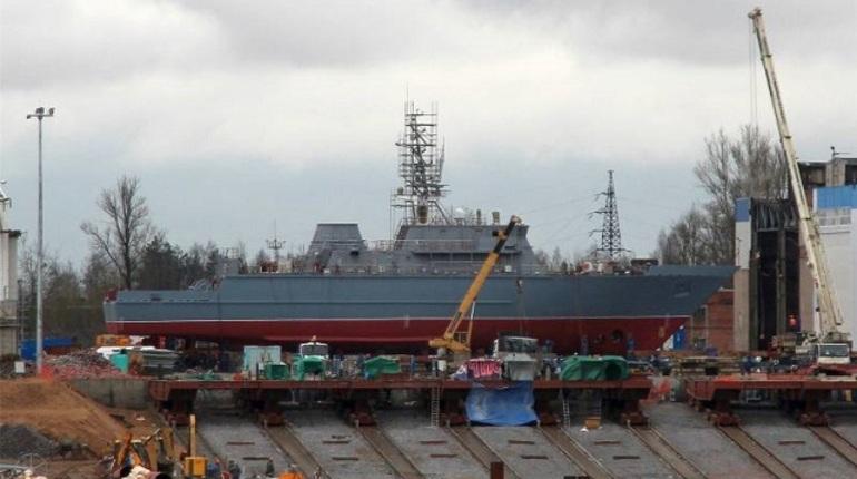 Противоминное судно «Иван Антонов» спустят наводу 25апреля вПетербурге