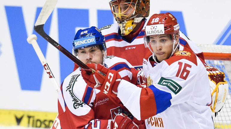 Сборная Российской Федерации одолела Чехию вматче шведского этапа Еврохоккейтура