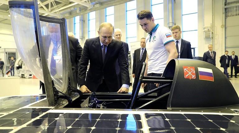 Путин пообещал лично оценить 1-ый отечественный «солнцемобиль»
