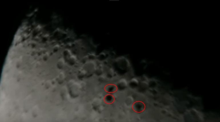 Три «НЛО» пересекли Луну ипопали навидео