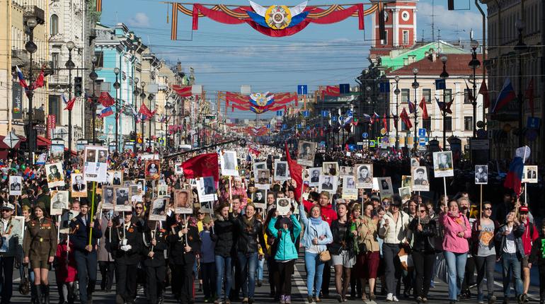 Вшествии «Бессмертный полк» вПетербурге принимали участие около млн человек