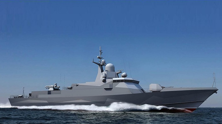 В Ленобласти спустили на воду малый ракетный корабль «Шквал»