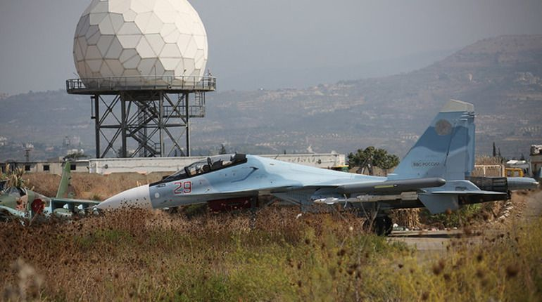 Средства ПВО на базе Хмеймим сбили беспилотник на подлете к аэродрому.