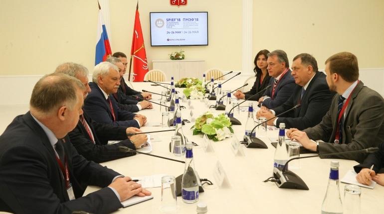 Полтавченко рассказал гостям из Республики Сербской, как попасть на продуктовый рынок Петербурга