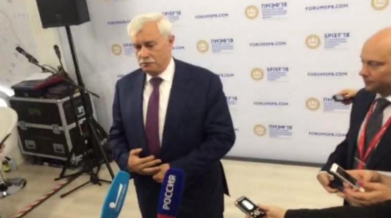 Полтавченко: Путин похвалил организаторов ПМЭФ