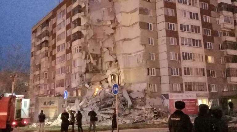 В жилом доме в Ижевске рухнули девять этажей