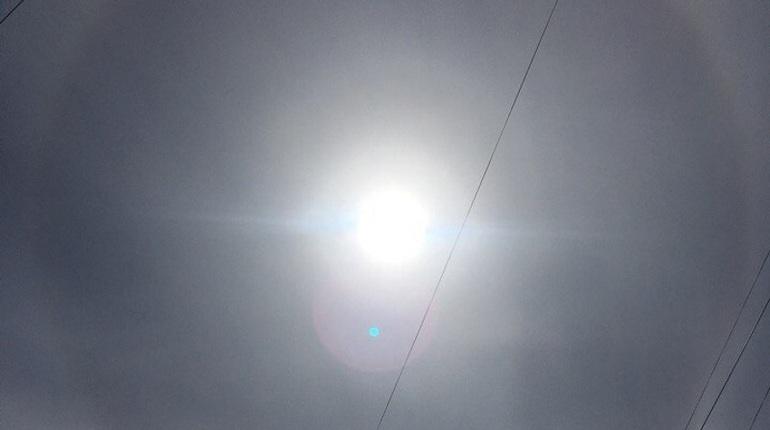 Петербуржцы заметили гало в небе