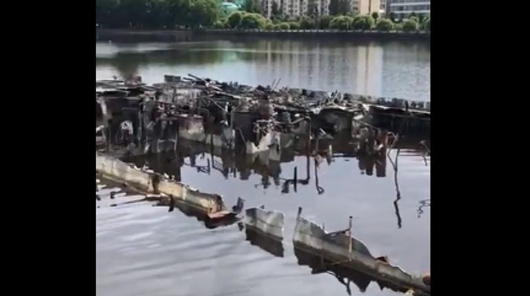 Затонувший в 2017 году теплоход