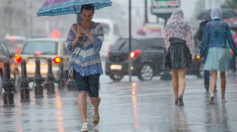 Петербуржцам советуют захватить зонт в четверг